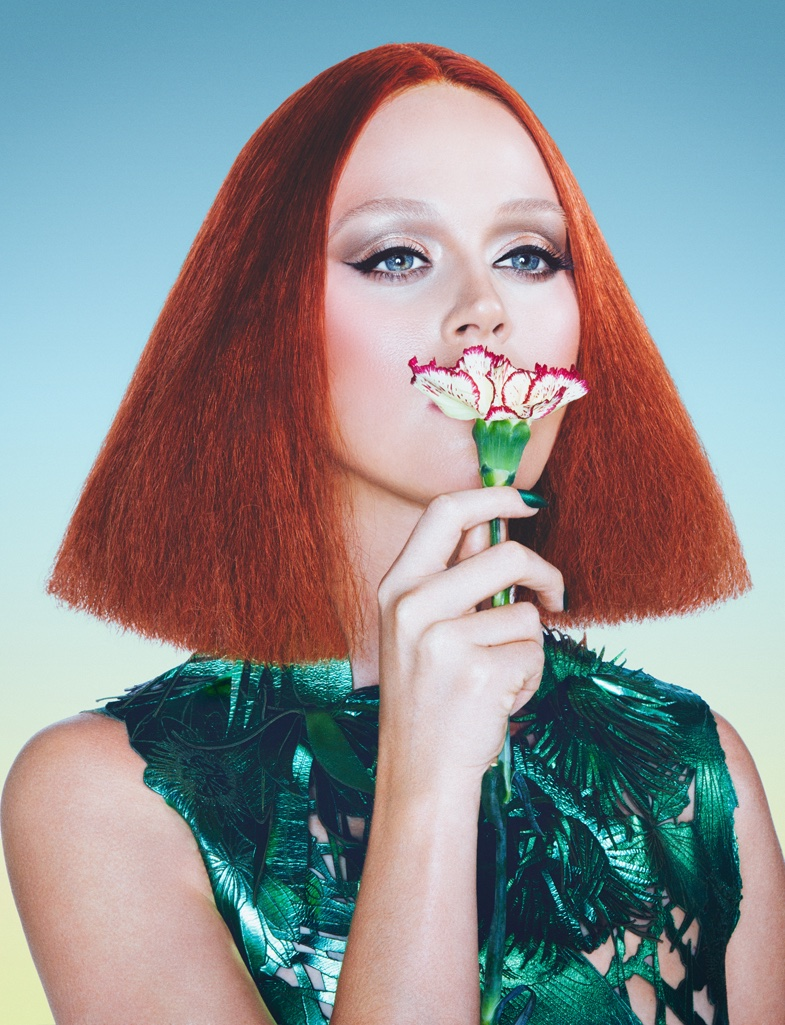 Katy Perry Transforms for Hairtastic Wonderland Magazine Feature