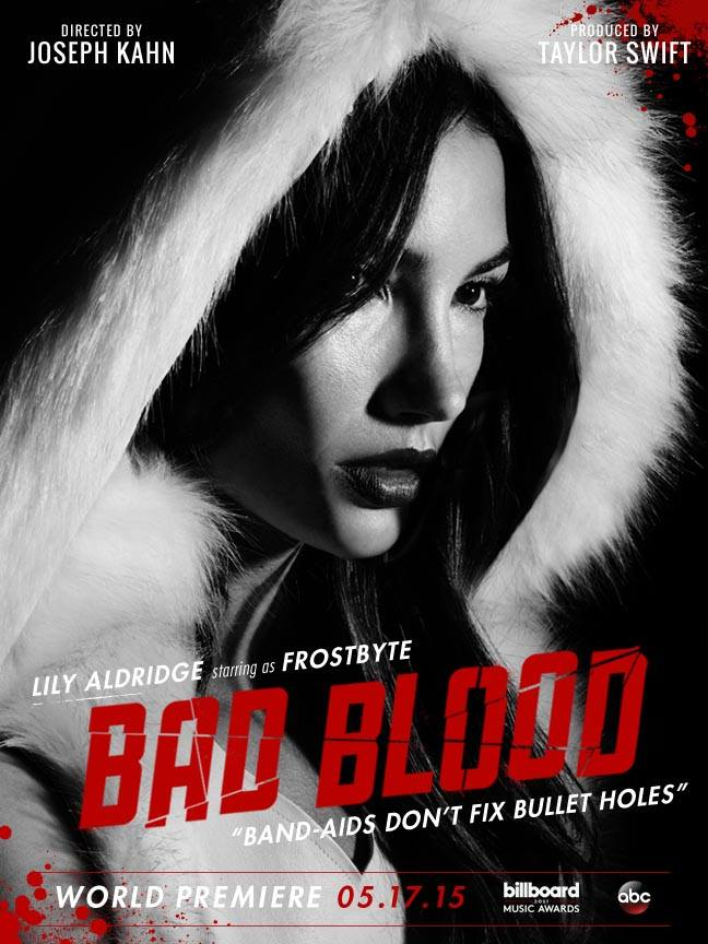 Lily Aldridge as Frostbyte in 'Bad Blood' poster