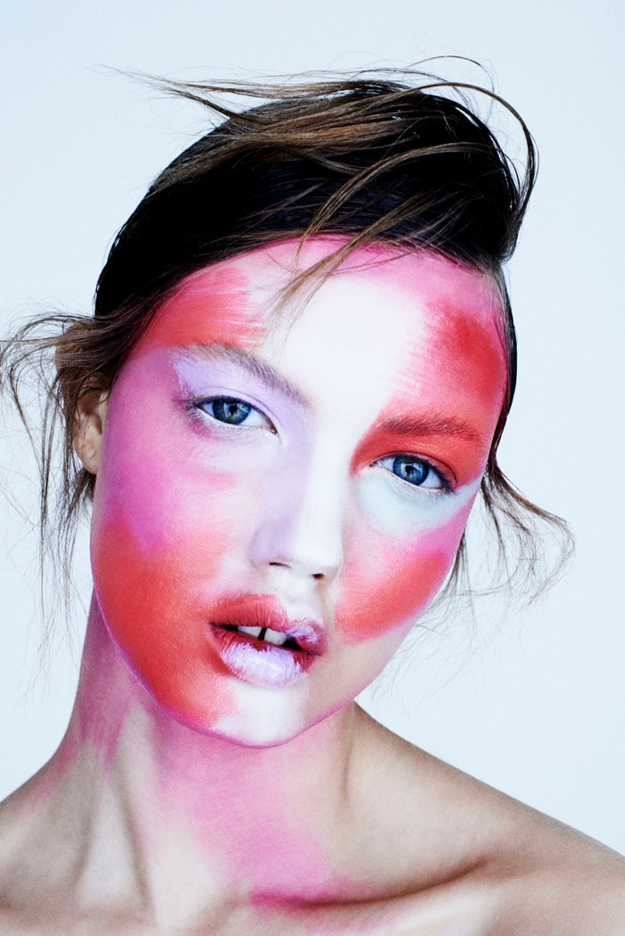 Lindsey Wixson by Henrik Bulow for FAT Magazine. Makeup by Hung Vanngo.