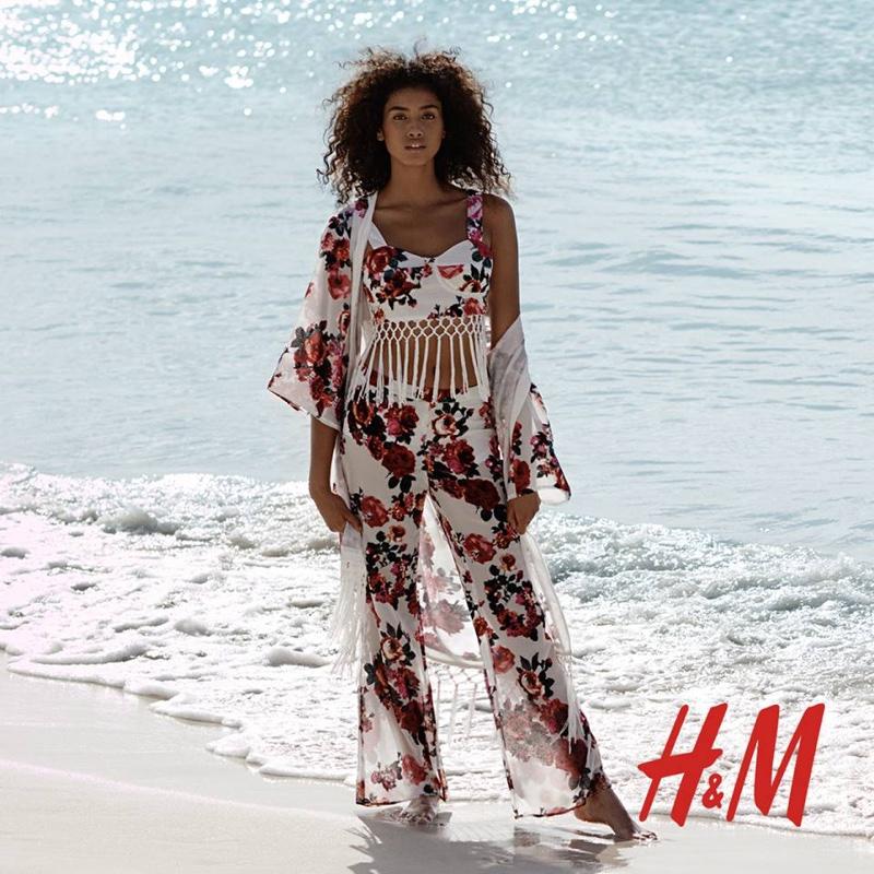 The Dutch model wears bohemian inspired fashions
