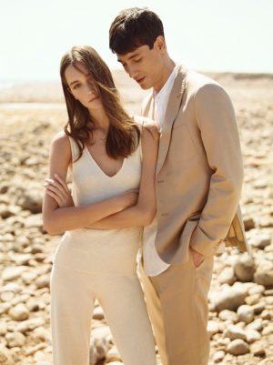 Josephine Le Tutour Models Warm Weather Fashion for Mango