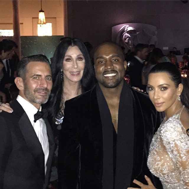 Marc Jacobs shared this image with himself, Cher, Kanye West and Kim Kardashian