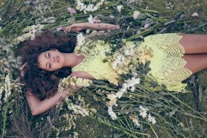 Marina Nery is a Flower Child in For Love & Lemons' Summer Collection