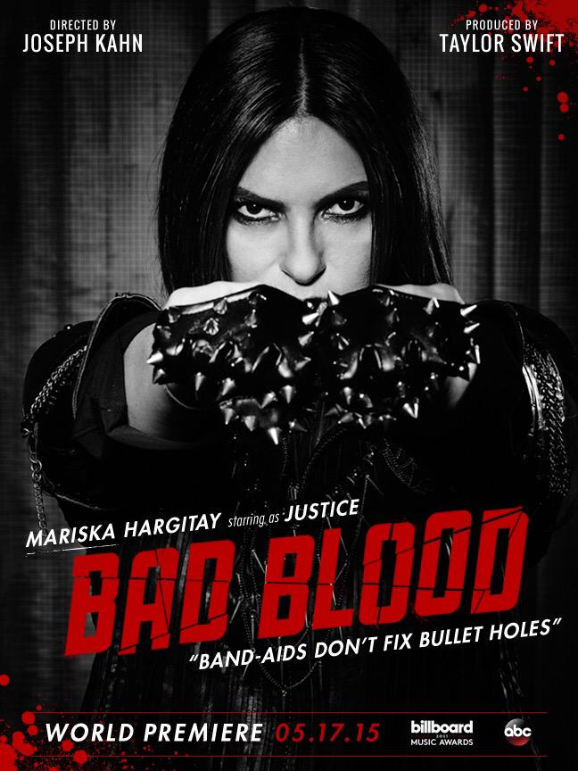 Mariska Hargitay on 'Bad Blood' music video poster