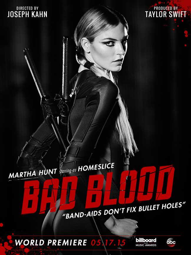 Model Martha Hunt stars on 'Bad Blood' poster