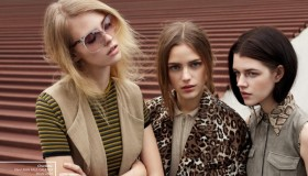 The girls of Modelwerk channel 70s style for the agency's 20th anniversary magazine