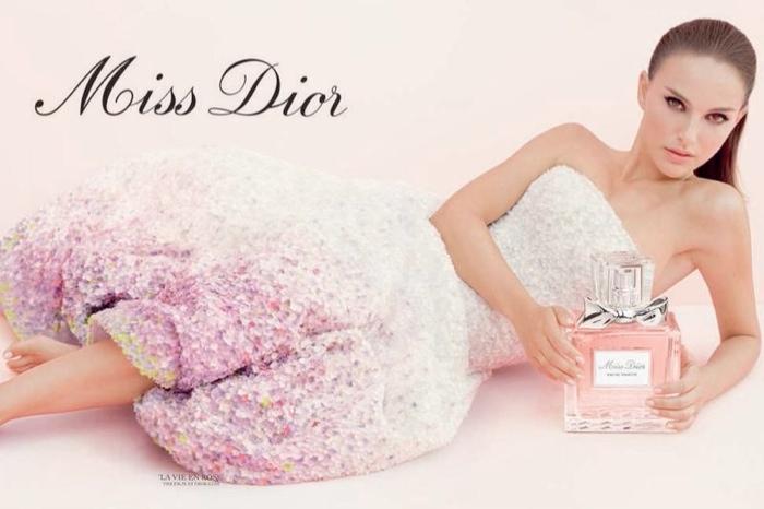 Natalie Portman for 'Miss Dior La Vie en Rose' fragrance ad in 2013.
