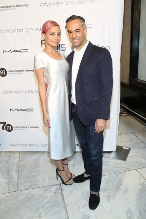 Nicole Richie Keeps it Simple in Calvin Klein Collection Dress