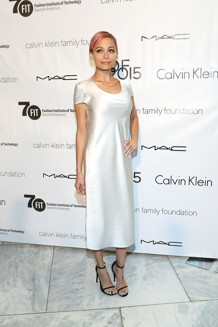 Nicole Richie wears Calvin Klein Collection dress at FIT 'Future of Fashion' event. Photo: Monica Schipper/FilmMagic