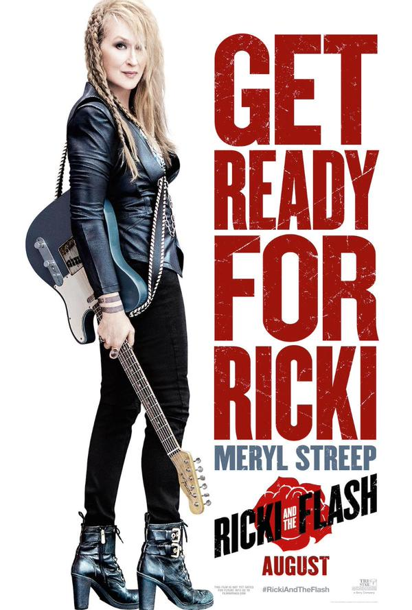 Meryl Streep on 'Ricki and the Flash' movie poster