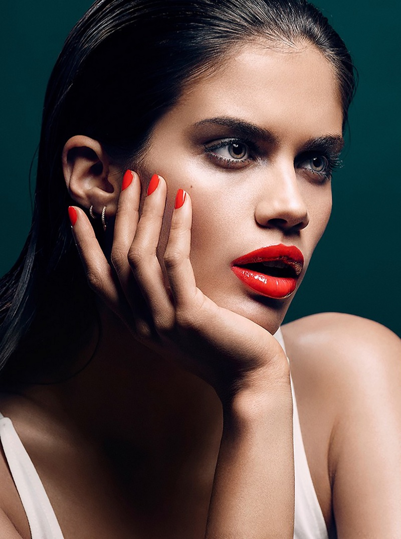 Sara Sampaio Flaunts Colorful Lips for Stella Beauty Shoot