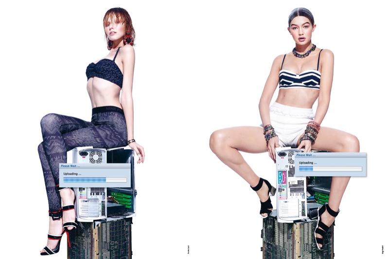 Gigi Hadid, Emily DiDonato Get Futuristic for Antidote Magazine