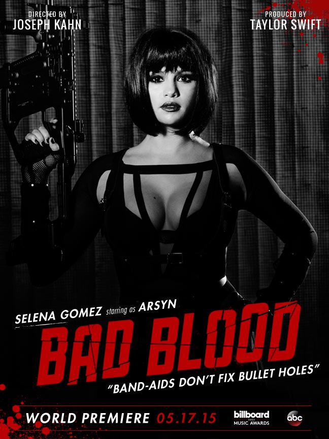 Selena Gomez as Arsyn on 'Bad Blood' poster