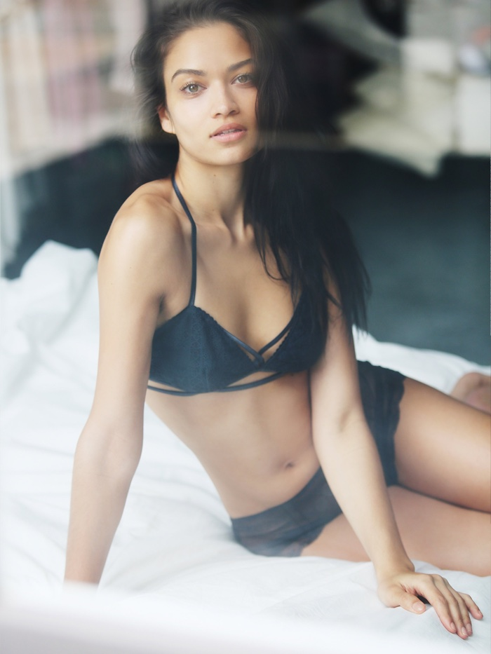 Australian beauty Shanina Shaik is another Free People model who can often be seen wearing the brand's lingerie looks.