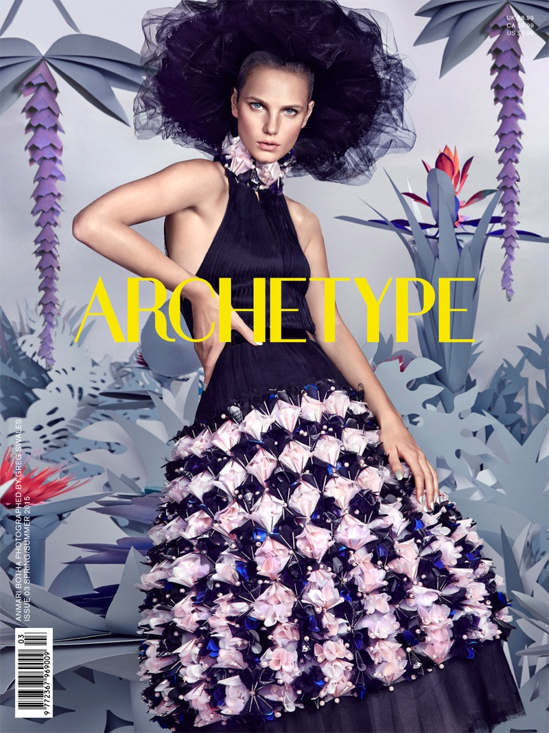 Anmari Botha lands on the spring-summer 2015 cover of Archetype Magazine