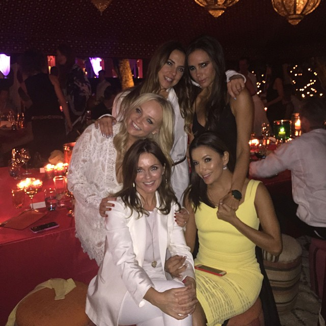 Spice Girls reunite in Morocco with Eva Longoria. The group will celebrate its 20th anniversary next year.