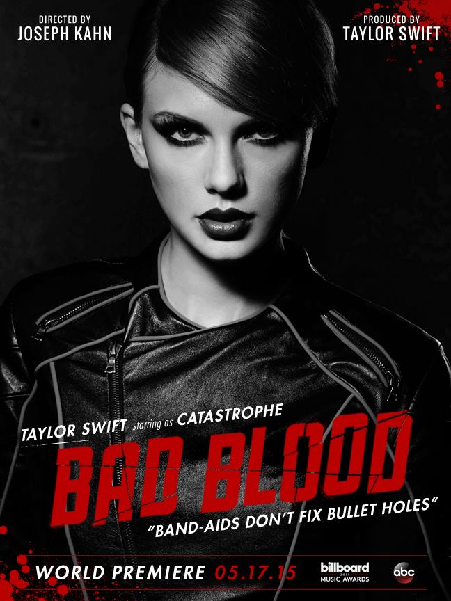 Taylor Swift as Castastrophe in 'Bad Blood' poster