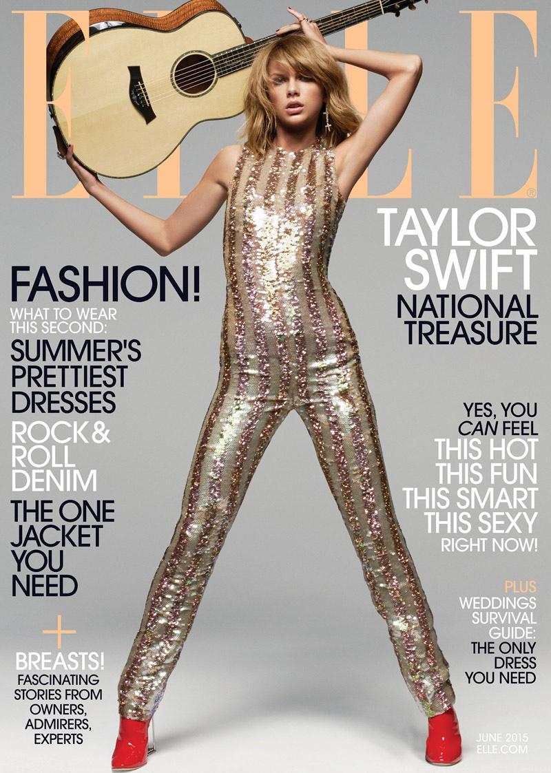 Taylor Swift stars on ELLE's June 2015 cover. Photo by Michael Thompson