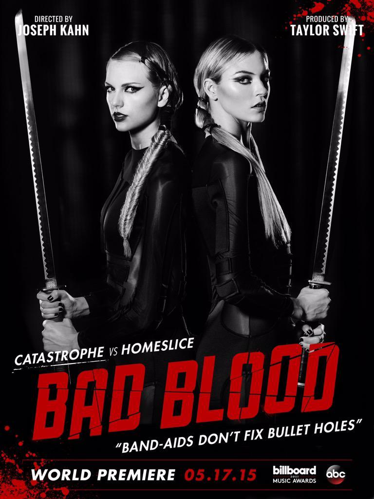 Taylor Swift vs. Martha Hunt on 'Bad Blood' poster