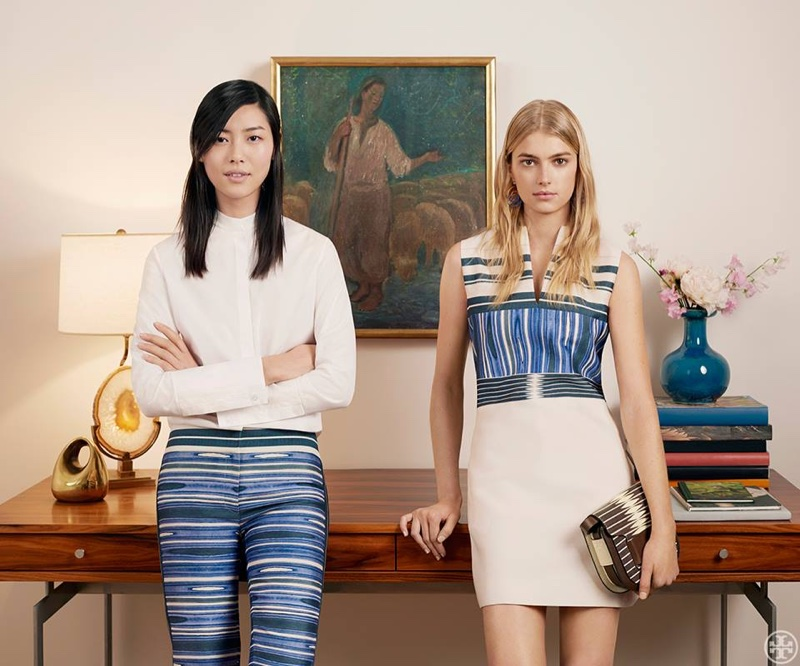 Tory Burch Embraces Stripes & Florals for Summer