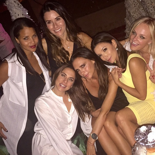 Victoria Beckham had a Spice Girls reunion in Morocco for her husband David's 40th birthday celebration