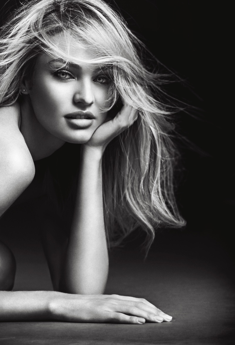 The VS Angel goes nearly naked for the advertisement