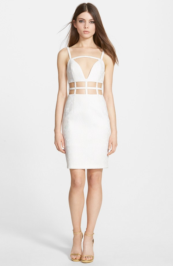 Whitney Eve Bitter Melon' Sleeveless Cutout Dress available for $159.00