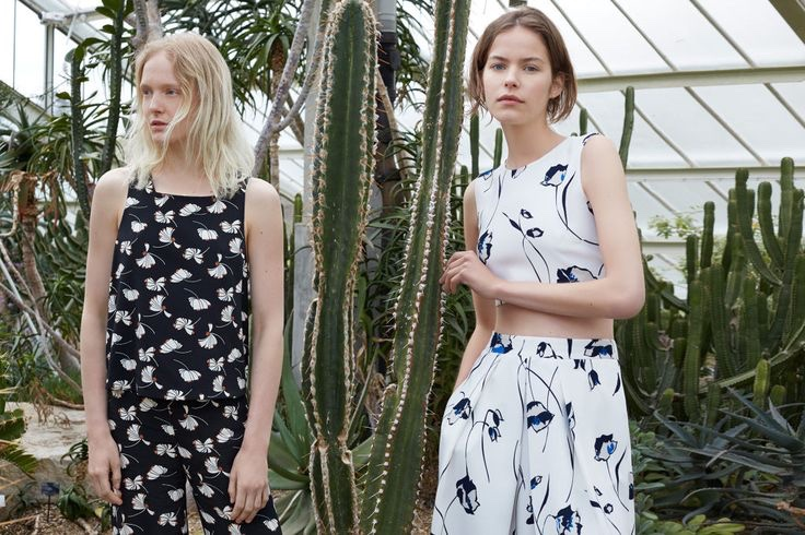 The trend guide features feminine floral patterns