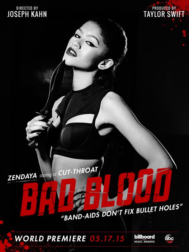 Zendaya on 'Bad Blood' music video poster