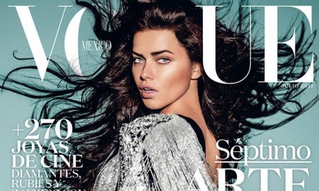 Adriana Lima on Vogue Mexico July 2015 Cover