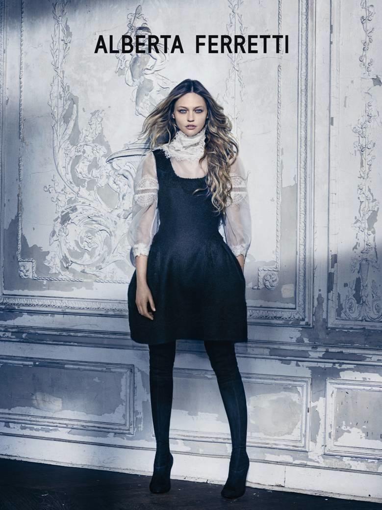 Sasha Pivovarova Channels Fairy Tale Style in Alberta Ferretti's Fall 2015 Ads