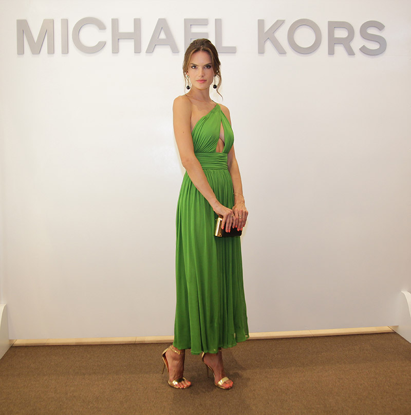 Alessandra Ambrosio Embraces Summer Brights at Michael Kors Store Opening