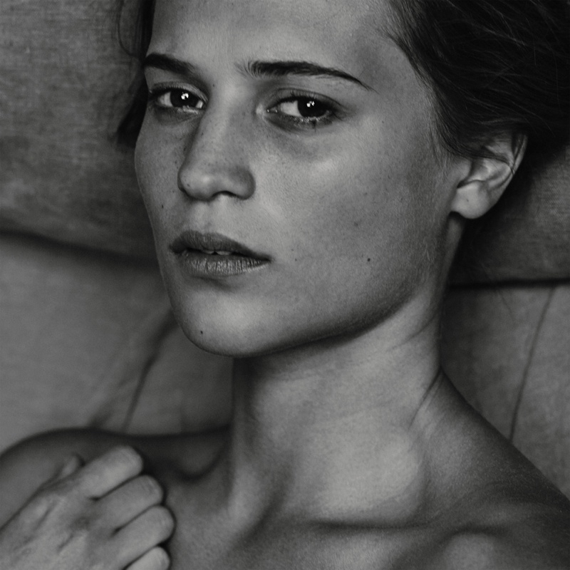 Alicia Vikander Does the No Makeup Look for Interview Magazine