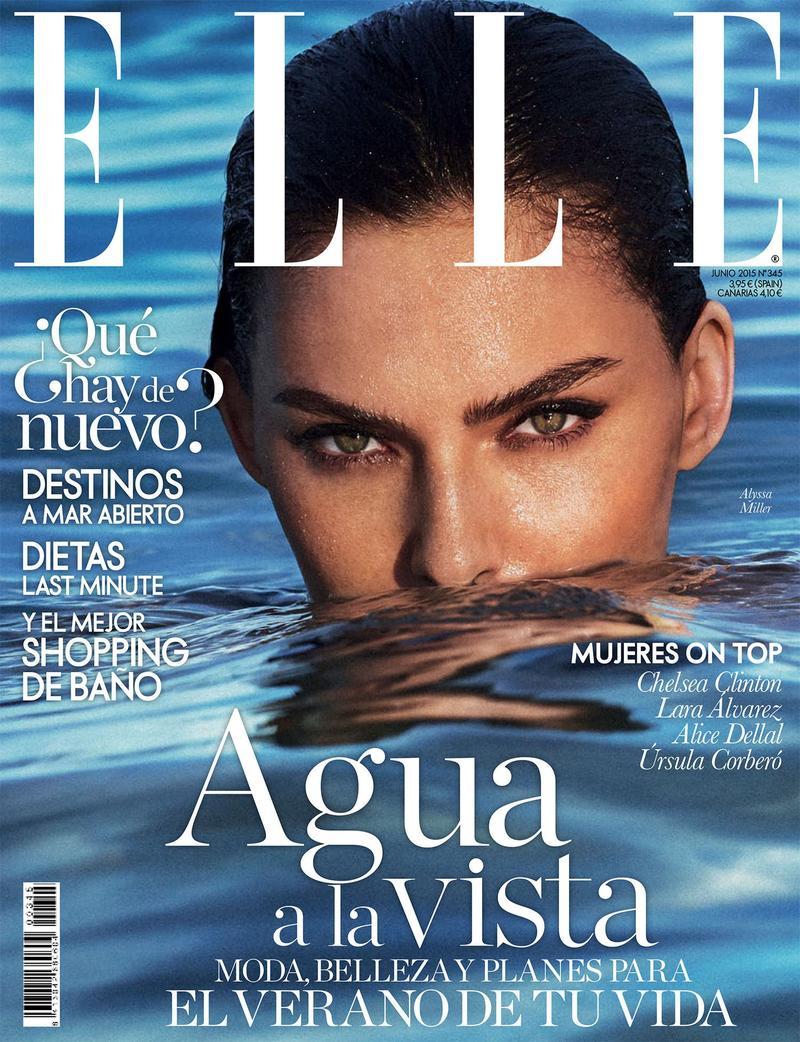 Alyssa Miller lands Elle Spain June 2015 cover lensed by Xavi Gordo