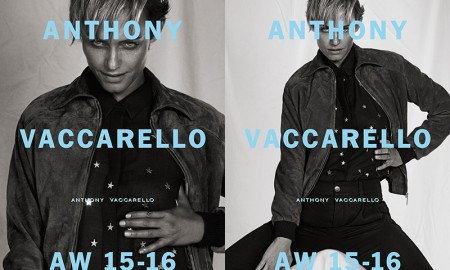 Amber Valletta in Anthony Vaccarello Fall-Winter 2015 Advertising Campaign