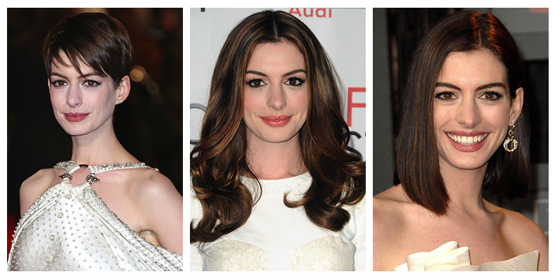 Anne Hathaway Hairstyles: Short & Long Haircuts on Anne Hathaway ...