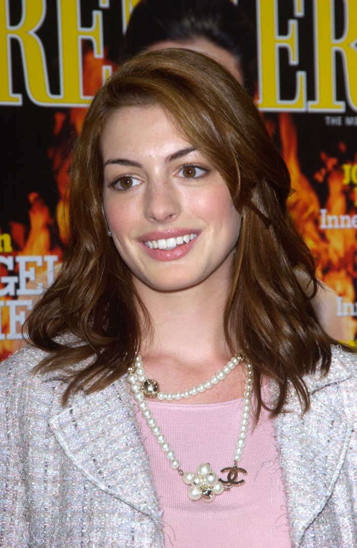 In 2004, Anne debuted a lighter and medium-length hairstyle featuring light brown highlights at an event. Photo: Featureflash / Shutterstock.com