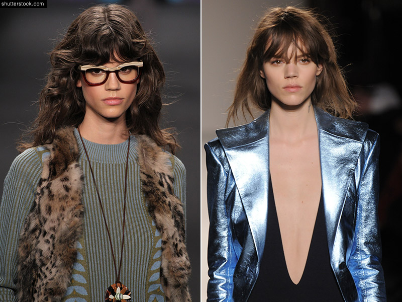 Antonina Petkovic (L) and Freja Beha Erichsen (R) are both models who have hit the runways. The bangs, brown hair and shaggy hairstyles are not all they have in common. Photo: Fashionstock.com / Shutterstock.com