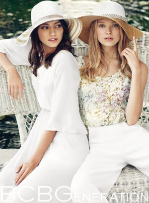 Vita + Liza Model Flirty Fashions for BCBGeneration Summer '15 Campaign