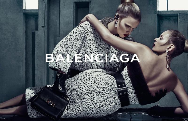 Lara Stone + Kate Moss for Balenciaga's fall 2015 campaign