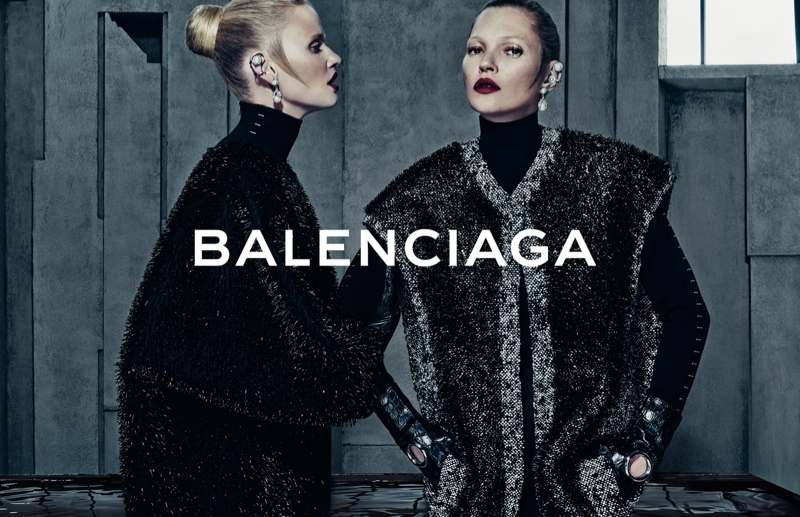 Steven Klein photographed the pair for Balenciaga's fall-winter 2015 campaign