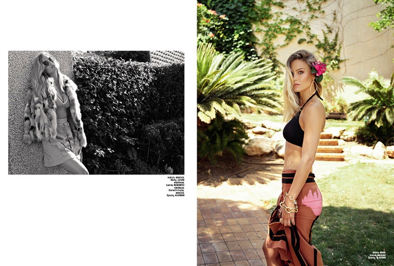 Bar Refaeli Soaks Up the Sun in Marie Claire Czech Cover Story
