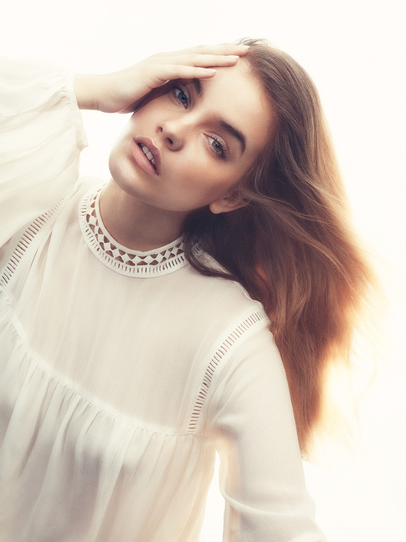 Barbara Palvin Looks Ethereal in July 2015 Cover Story of ELLE Sweden