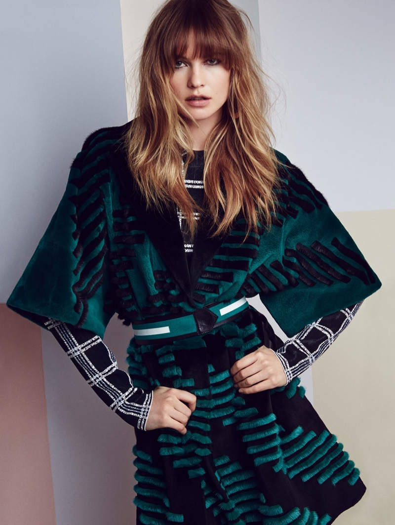 Behati Prinsloo Layers Up in 70s Fashions for Editorial in Vogue China