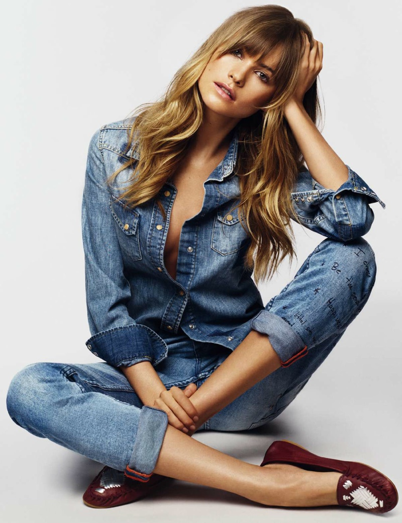 Behati Prinsloo Models Effortless Style for Cover Story of ELLE Spain