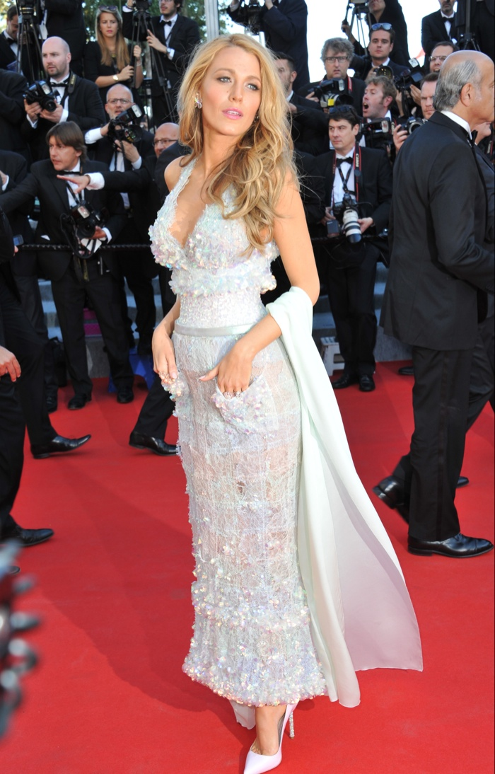 b803da227 ... Blake Lively stunned in a sequined Chanel Haute Couture gown at the  2014 Cannes Film Festival