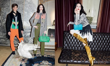 Anna stars alongside Freddy Drabble in Bottega Veneta advertisements