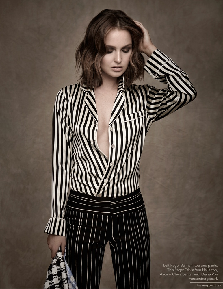 'Grey's Anatomy' Star Camilla Luddington Wears Stripes for Line Magazine