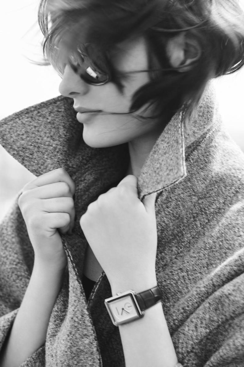 Sam Rollinson models Chanel's Boy.Friend watch