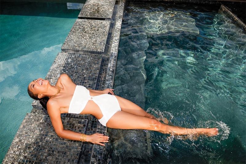 Chanel Iman Makes a Splash for C Magazine Cover Story